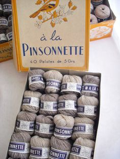 French Vintage 100 per cent Wool Yarn,Embroidery,Knitting,Crochet Old Stock Haberdashery. €25.00, via Etsy.