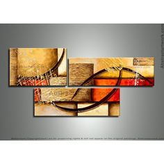 3 Panels Abstract Painting 250 - 54 x 28in