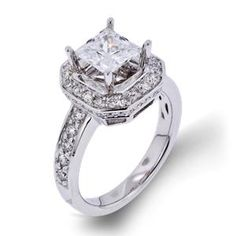 Shop online Arthurs Collection WCW-10274 Halo White Gold Diamond Engagement Ring at Arthur's Jewelers. Free Shipping