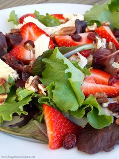 Shopgirl: Chicken Salad with Strawberries, Pecans and Cranberries