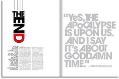 Mean Magazine Layouts by Bill Smith & designSimple by Bill Smith, via Behance