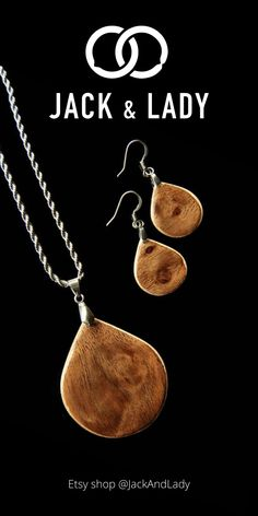 Our jewelry sets for women are handmade from sustainable wood, sourced from around the world. We use veneers to make the necklace and earrings durable. Minimalistic style with very unique wood, every jewelry sets we made is rare, lightweight have a beautiful finish, and is hypoallergenic. Each wooden pendant and earrings are made only with hands, love, and care.
