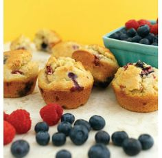 """For Recipe: CLICK on PIC and when taken to 2nd pic click again...Mixed Berry Muffins...  ...Recipe by George Stella... ...For tons more Low Carb recipes visit us at """"Low Carbing Among Friends"""" on Facebook"""