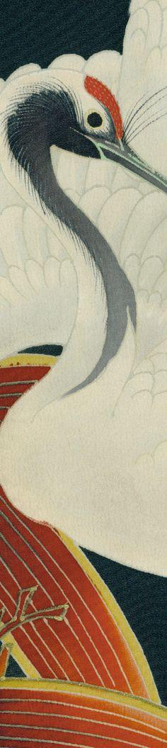 detail of silk Kurotomesode, Late Meiji to mid-Taisho era (1900-1920). Yorke Antique Textiles