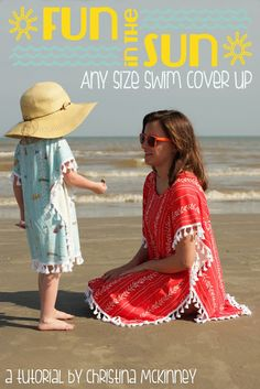 Tutorial | Fun In The Sun Any Size Swim Cover Up | by Christina McKinney