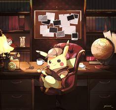 Pikachu the Detective Pokemon Fan Art, Ghost Pokemon, Pokemon Memes, Pokemon Live, Pikachu Funny, Pikachu Pikachu, Pokemon Cosplay, Fanart, Detective