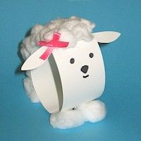 Cute and easy sheep... for little ones you could mark the flat cardstock, have them add all of the details and then have an adult staple the bottom.
