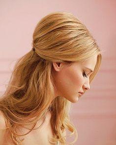 Natural Wedding HairStyles ♥ Half Up Wedding Hairstyle - wish-upon-a-wedding
