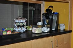 When you come in for a meeting we can brew a cup of fresh coffee for you with all the good keurig flavors.