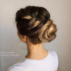 french twist into bun. formal hairstyle