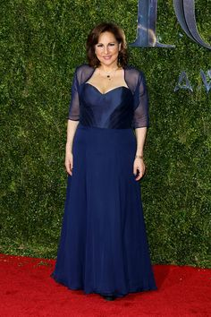 Best Dressed at the 2015 Tony Awards, Kathy Najimy looks just flawless in Matthew Christopher Couture. #TonyAwards #TonyAwardsRedCarpet #MatthewChristopher #Couture #RedCarpetCollection #RedCarpetFashion