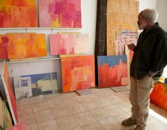 Great interview with artist Stuart Shils. His work is nothing like Howard Hodgkin's but like Hodgkin his paintings are always about something very specific.