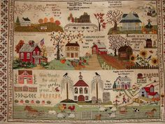 Vonna had an idea for a great new SAL called Me, Myself, And I Round Robins . It's a stay-at-home Neighborhood Round Robin where we each bu. Cross Stitch Sampler Patterns, Embroidery Sampler, Cross Stitch Samplers, Cross Stitch Designs, Cross Stitching, Cross Stitch Embroidery, Cross Stitch House, Crochet Cross, Chart Design