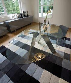 Tavolo ovale con piano in vetro per cucina moderna   Cose da ...