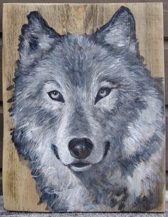 2015.02.1., Wood desk, 38 x 30 cm, acryl, varnish  The Wolf