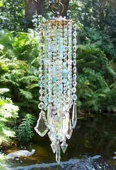 Sea and Sky Antique Crystal Wind Chime. $174.95, via Etsy.   (waaay too expensive for me, but I love the concept! never woulda thought)