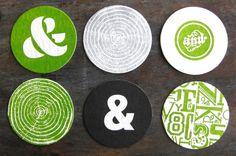 beautiful letterpress coasters from TPD