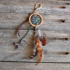 Boho Keychain Dreamcatcher Purse Charm by VagaBoundPeople