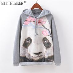 We love it and we know you also love it as well MITTELMEER New Autumn and Spring Harajuku printed Hooded o-neck Cartoon panda printing Hoodies tops for women just only $12.15 with free shipping worldwide  #womanhoodiessweatshirts Plese click on picture to see our special price for you