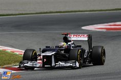 #Maldonado on his way to victory in Barcelona giving Williams #F1 it's first victory since 2004