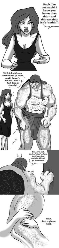 Raphril - Love - Page 2 by on DeviantArt Ninja Turtles Art, Teenage Mutant Ninja Turtles, Dipper And Pacifica, Tmnt Swag, Tmnt Leo, Tmnt Girls, Tmnt Comics, Tmnt 2012, Undertale Fanart