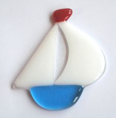 Sweet Little Fused Glass Sailing Boat. £6.50, via Etsy.