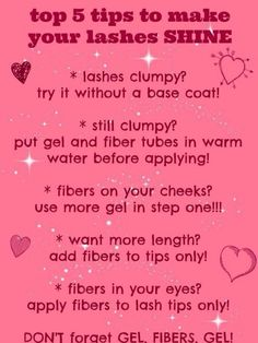 Tips for your 3D mascara & lashes