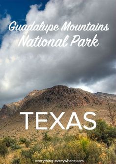 Guadalupe Mountains is adjacent to, and just over the New Mexico border, from Carlsbad Caverns National Park. It is one of the lesser known and visited parks in the National Parks System.