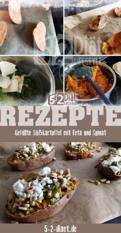 Ein leckeres Süßkartoffelgericht mit vielen Vitaminen und Nährstoffen Feta, Tacos, Mexican, Ethnic Recipes, Fitness, Desserts, Workouts, Wraps, Easy Cooking