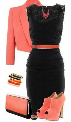Black and peach