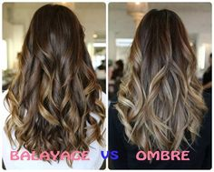 Balayage hair color vs ombre