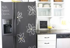 chalkboard fridge Oh yeah I smell a project!