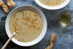 Broccoli Cheddar Soup is the ultimate when it comes to soup season. Made with a roux base and loaded with broccoli and cheddar & topped with cheese straws! Loaded Baked Potato Soup, Potato Leek Soup, Onion Soup, Fall Recipes, Soup Recipes, Curried Lentil Soup, Whats Gaby Cooking, Freezer Friendly Meals, Soup Appetizers