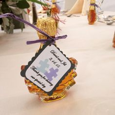 We loved Jill and David's wedding favors for their reception held in the Presidential Ballroom.