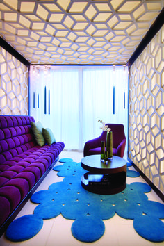 Bliss Spa. W Doha Hotel & Residences. A colorful decor inspiration for who's seeking for interior design ideas.