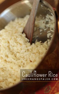 Have you tried cauliflower rice? I was impressed by just how well this works. Cauliflower pizza base - not so much, but this, it's a winner!