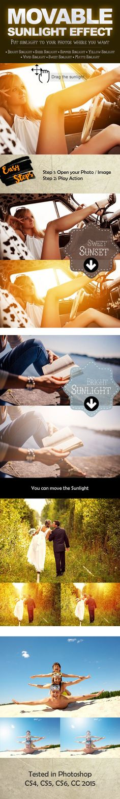 Movable Sunlight Effects Photoshop Actions. Photoshop tips. Nordic360.