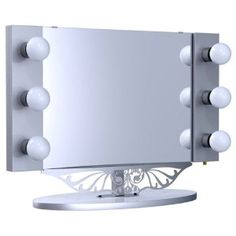 Starlet lighted vanity mirror 29900 omfg the person to get me this cheap starlet table top lighted vanity mirror silver for sale aloadofball Image collections