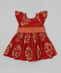 Loving this Global Mamas Poppy Roses Princess Dress - Infant, Toddler & Girls on #zulily! #zulilyfinds