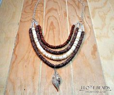 mother of pearl-goldstone-shell-multi stranded necklace-boho style necklace-neutral colors necklace-heishi necklace-Albaicin necklace