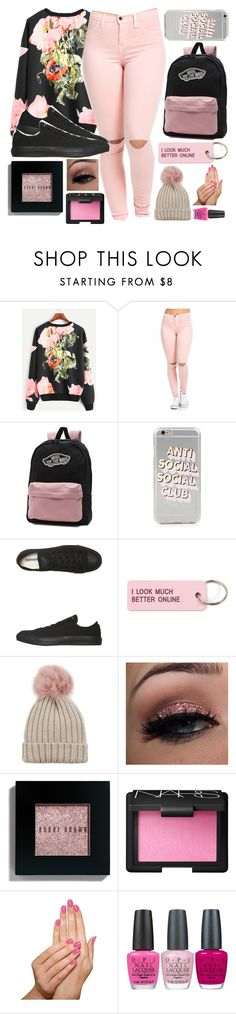 """""""Pink and on fleek👌"""" by malrocks2003 ❤ liked on Polyvore featuring Vans, Converse, Various Projects, Jocelyn, Bobbi Brown Cosmetics, NARS Cosmetics, Piggy Paint and OPI"""