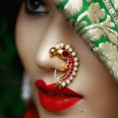 Beautiful Girl Indian, Most Beautiful Indian Actress, Beautiful Girl Image, Beautiful Women, Beautiful Gif, Nose Ring Jewelry, Nose Rings, Ear Rings, Nose Ring Designs