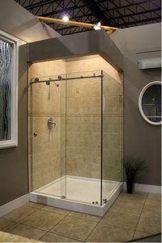 walk-in corner shower designs - Google Search