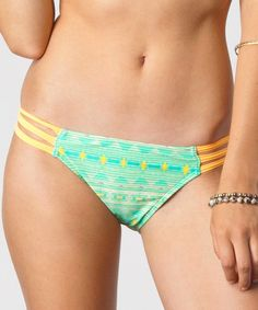 Take a look at this Green Fuji Triple-Strap Bikini Bottoms by O'Neill on #zulily today!