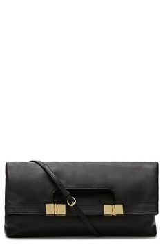 Vince Camuto 'Allie' Leather Foldover Clutch