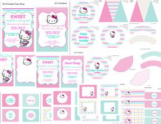 Hello Kitty Printable Party Set