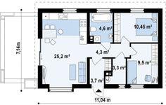 case mici sub 100 de metri patrati Small houses under 100 square meters 3 2 Bedroom House Plans, Duplex House Plans, House Floor Plans, Small Floor Plans, Kitchen Floor Plans, Euro, Design Case, Home Interior Design, Planer