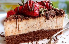 Tiramisu v dortové formě Czech Desserts, Baking Recipes, Cake Recipes, Czech Recipes, Mousse Cake, Pavlova, Something Sweet, No Bake Cake, Sweet Recipes