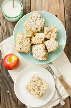 This Vegan Apple Breakfast Cake has a tender, soft crumb, just enough sweetness to get your day going, and a bit of whole wheat nutrition to round it out.