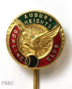 Auburn Heights Bowling Club Enamel PIN Badge | eBay